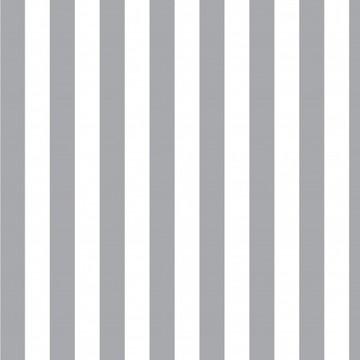 Papel de Parede Listrado Neutro Tons Cinza e Branco