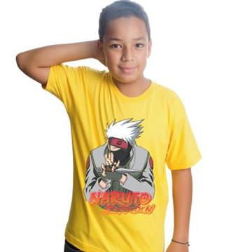 Camiseta Naruto Infantil Anime Kakashi