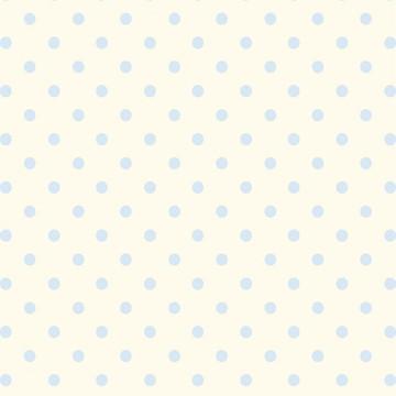 Papel de Parede Quarto Bebê bolinhas Azul fundo Amarelinho
