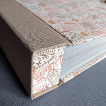 Álbum 26x22cm - 50 folhas (100 pags.) para até 100 fotos