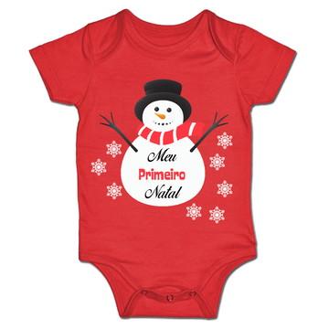 Body p/ Bebê Meu Primeiro Natal