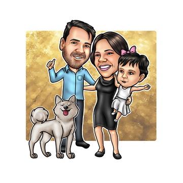 Caricatura para Convite de Casamento Online