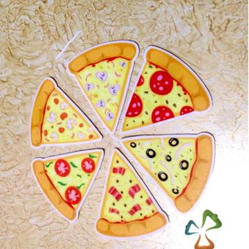 Imãs de Geladeira Mini Pizzas - Kit com os 6 imãs