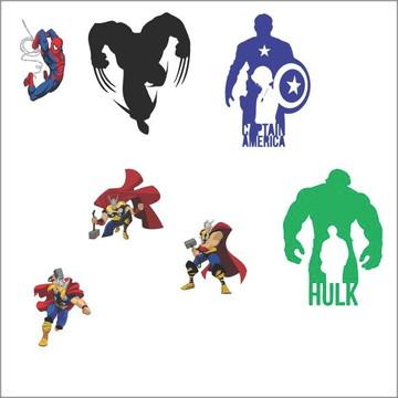Vetores Super Herois CDR, EPS, Ai e PNG (24 Vetores CDR)