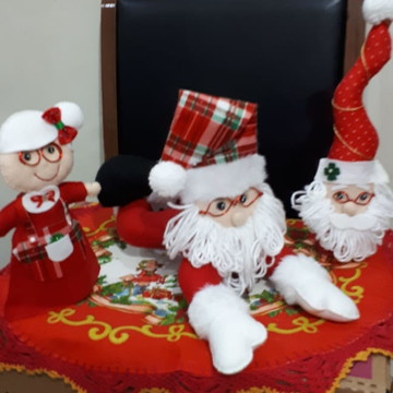 Enfeites natalinos, papai noel deitado