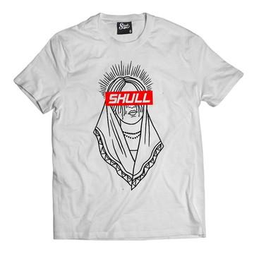 Camiseta Santa Muerte Camisa Masculina Larga Skull Clothing