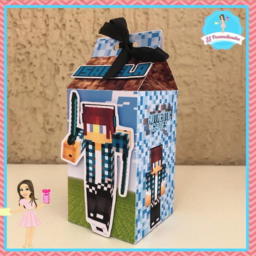 Caixa Milk Personalizada Authenticgames Minecraft