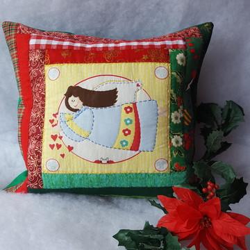 Almofada Natal de Amor - Patchwork