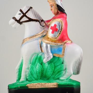 Imagem Ogum Mege da Calunga Escultura em gesso puro