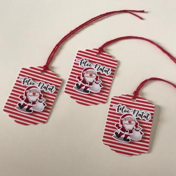 Tags em Papel para Presentes de Natal - pacote com 10