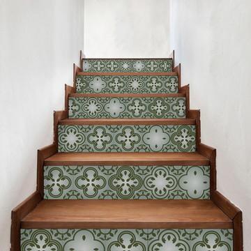 Adesivo de Azulejo Verde Folha