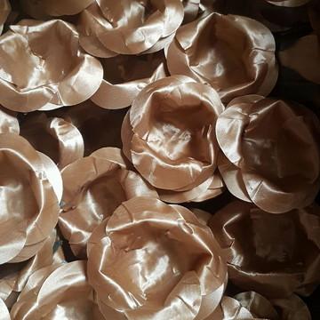 Forminha para doces Rosa Luxo em cetim