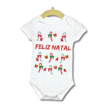 Body Bebe Infantil roupinha de natal espirito natalino