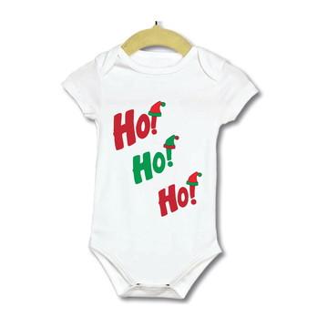 Body Bebe Infantil Roupinha de natal gargalhada ho ho ho