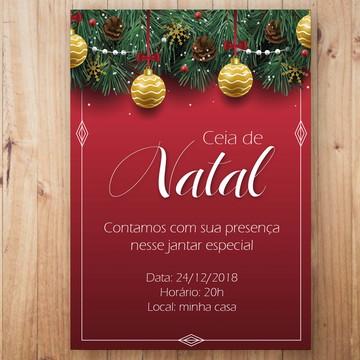 Convite Digital Ceia de Natal
