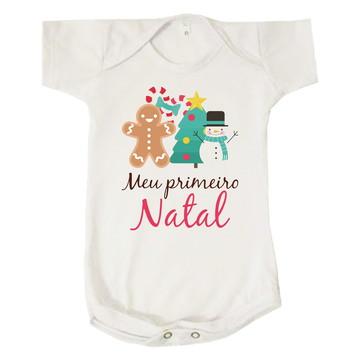 Body Bebê Infantil Meu Primeiro Natal Boas Festas Unissex