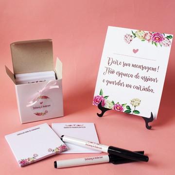 Kit Mensagem - Flores Rosa e Marsala
