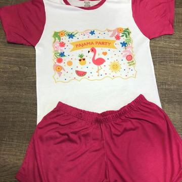 pijama personalizado flamingos