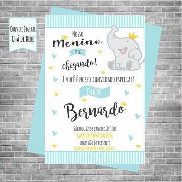 Convite digital Chá de bebe Elefantinho