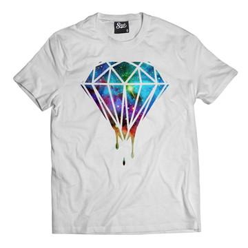 70c97b8a4 Camiseta Diamante Pingando Camisa Masculina Diamond Hip-hop