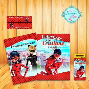 Kit Para Colorir Lady Bug +20 folhas (Arte Digital)