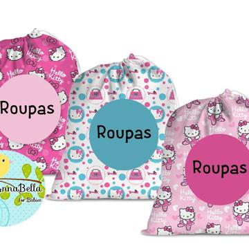 40e67a1d2f Kit com 3 Saquinhos Organizadores Hello Kitty