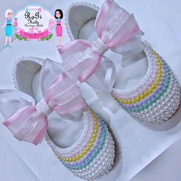 Sapato de pérolas Candy Color