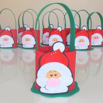 Lembrancinha Papai Noel em EVA com alça