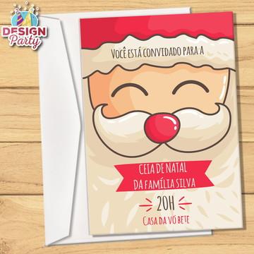 Convite + Envelope Ceia de Natal