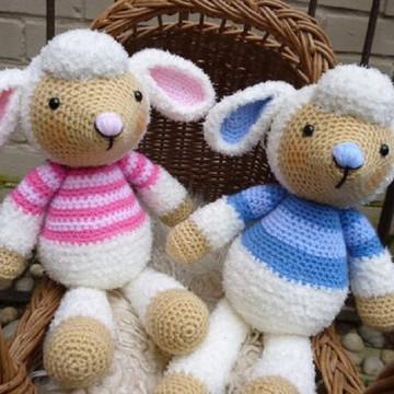ovelhinhas menina e menino- chá revelação