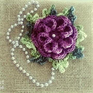 Flor cerejeira em croche