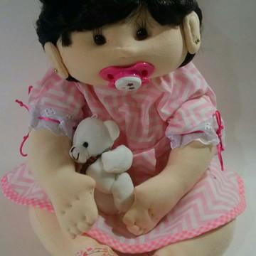 Boneca de Pano bebê articulada braços e pernas
