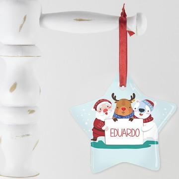 Enfeite de Natal Personalizado - Festa na Neve