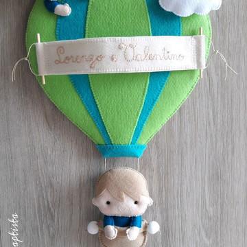Porta Maternidade Balão (Menino)