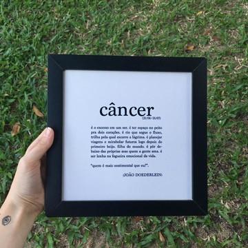 Quadro decorativo MDF Signo Câncer