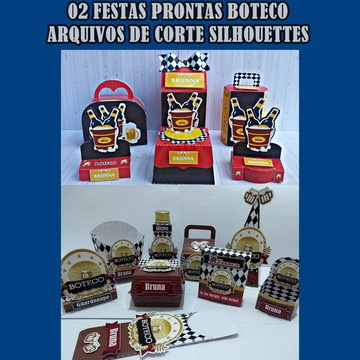 02 kit Festa Digital Boteco Arquivos Silhouettes