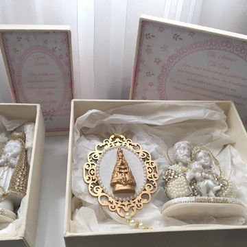 Kit de caixas personalizadas para casamento e batizado