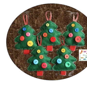 Enfeite árvore de Natal feltro