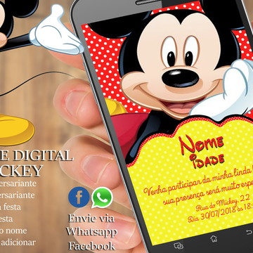 CONVITE DIGITAL - MICKEY MOUSE