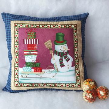 Almofada Natal - Boneco de Neve, presentes