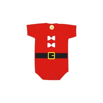 Body OU Camiseta INFANTIL Papai Noel Lacinho Algodão