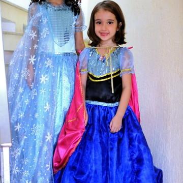2823971d84 Fantasia infantil Elsa ou Anna do Frozen