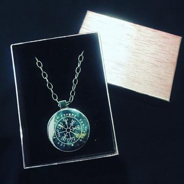 amuleto vigvisir em aço inox