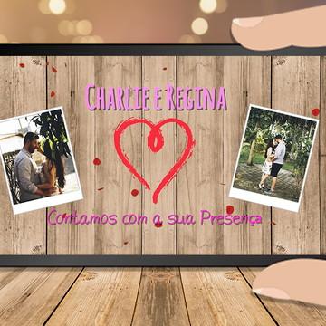 Convite de vídeo Animado Casamento