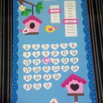 Kit para enfeitar sala de aula 3 peças -tema passarinhos