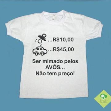 785126ea33 T-Shirt AVÓS NÃO TEM PREÇO P Meninos