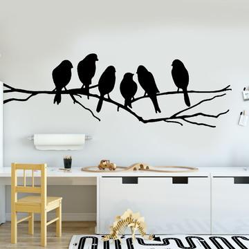 Adesivo de Parede - Pássaros e Galhos