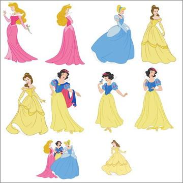 Vetores Princesas CDR, EPS, Ai e PNG (28 Vetores CDR)
