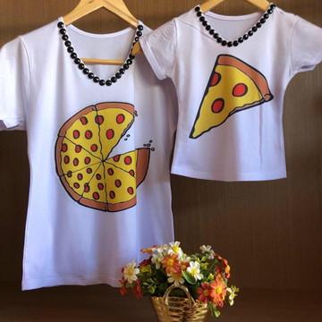 Blusas Tal mãe Tal filha Pizza