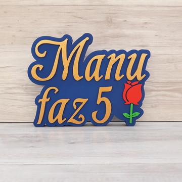 Nome de Mesa Tema A BELA E A FERA - Manu faz 5